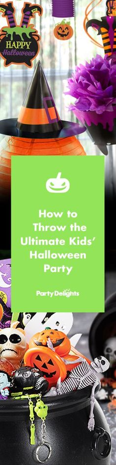 Find out how to throw the ultimate Halloween party for kids! Browse our brand new kids' Halloween party ideas for decorating tips, costume ideas, trick or treat advice and more.