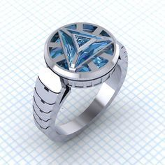 Arc Reactor Ring by Paul Michael Designs (Iron Man / Tony Stark / Marvel / Avengers)