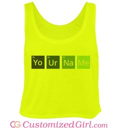 Customize Chemistry Tees and Tanks with Customized Girl