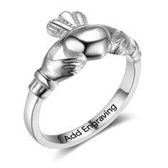 The Bohemian Spirit Friendship Promise Rings, Promise Rings For Her, Sterling Silver Rings, Silver Jewelry, Wedding Engagement, Engagement Rings, Irish Jewelry, Claddagh Rings, Wedding Rings For Women