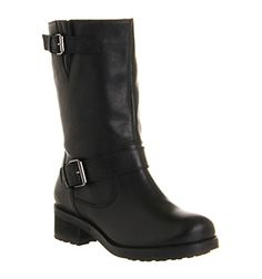Office Bullet Proof Biker Black Leather - Ankle Boots