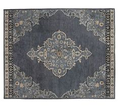 Bryson Persian-Style Rug - Navy - liking rugs with definite borders. (not necessarily this one, or blue)