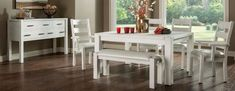 King's Canyon Dining Room Set by Keystone Exquisite solid wood dining set by Keystone. Solid wood furniture for dining room custom made in Amish country. #diningsets