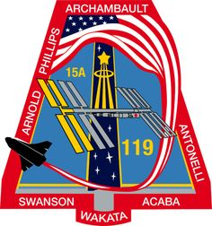 List of Space Shuttle missions Leonard Nimoy, Space Projects, Space Crafts, Man Cave Ceiling Ideas, Nasa Iss, Space Patch, Nasa Patch, Air Force Patches, Nasa Missions