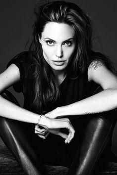 """Angelina Jolie in """"Untamed Heart"""" for Elle US, June 2014 by Heidi Slimane"""