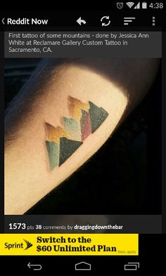 Been drawing up some possible mountain range tattoos for months now and saw this on Reddit yesterday. Someone got my idea realized before me!