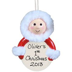 Personalised Handmade Traditional Baby in Snowsuit Ornament  from Personalised Gifts Shop - ONLY £9.99