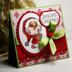 Christmas Card  Handmade Greeting Card  Season's by CardInspired, $3.95