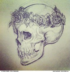 Resultado de imagem para beautiful skull tattoos for women