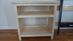 DIY plans to build a nightstand.  Finish with any paint or stain you want.