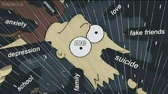 Every boy's situation Simpson Wallpaper Iphone, Cartoon Wallpaper Iphone, Mood Wallpaper, Cute Cartoon Wallpapers, Aesthetic Iphone Wallpaper, Wallpaper Quotes, Heartbreak Wallpaper, Cute Cat Memes, Sad Drawings