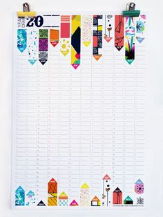 Calendar Wall Planner Perpetual Office Organiser Pattern Reversible Design HG Wells Quote by SamOsborneStore via Etsy. Calendar Layout, 2013 Calendar, Calendar Girls, Calendar Wall, Office Calendar, Web Design, Print Design, Filofax, Kalender Design
