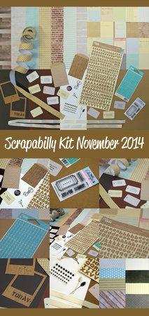 'Scrapabilly Kit November 2014 - www.Scrapabilly.de