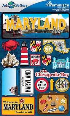 Reminisce 3-D LAYERED Stickers-MARYLAND scrapbooking OLD LINE STATE