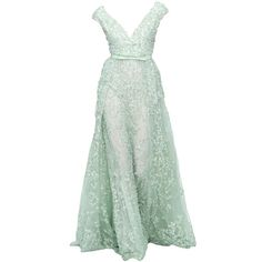 4a02782382f4.jpg (1376×2818) ❤ liked on Polyvore featuring dresses, gowns, vestidos, green gown, green ball gown, green dress, evening gowns and masquerade ball gowns