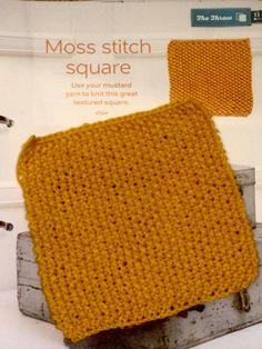 Issue 10 - Moss stitch square
