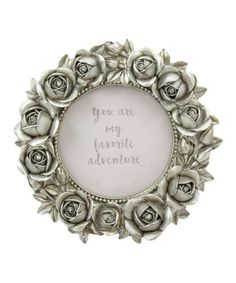 Loving this Small Round Silver Rose Resin Frame on #zulily! #zulilyfinds