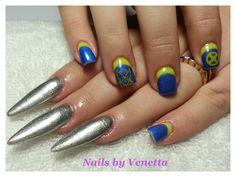 Wolverine Inspired Stiletto Gel Polish Acrylic Nails