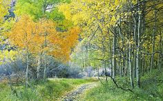 "Noriko Endo -  ""Confetti Naturescapes"" class on ""Autumn Aspens"""