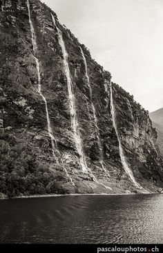 Dans le Fjord de Geirangerfjord by Pascal Jeanrenaud on Fjord, Norway, Dan, Waterfall, Outdoor, Viajes, Outdoors, Outdoor Living, Garden
