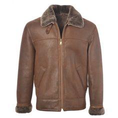 827c00df32 Mens Ashwood Hunter Tobacco- Sheepskin Flying Jacket Leather Company