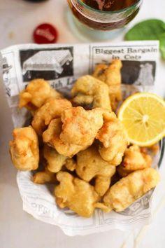 Receta de merluza en tempura de cerveza #recetas con #pescado #actitudsaludable