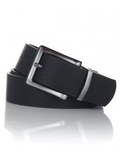 Men's black, cracked leather effect belt with a silver metal square frame buckle. Belt Buckles, Boy Fashion, School, Metal, Silver, Leather, Accessories, Black, Style