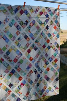 charmed {finally… a finish!} New quilt pattern from live.love.sew. Love this! More