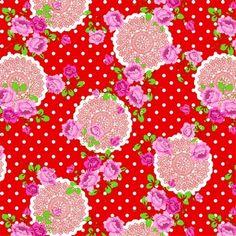 Plakfolie funky flower rood