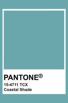 PANTONE 15-4711 TCX Coastal Shade Pantone Swatches, Color Swatches, Pantone Colour Palettes, Pantone Color, Color Trends, Color Combos, Pantone 2020, Coastal Colors, Colour Board