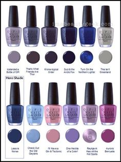 Opi Iceland Collection Fw 2017 This Isn T Greenland Honestly Ready To These Purely For Their Names