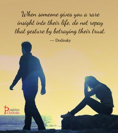 Never Ever Betray Someone's Trust | Positive Outlooks Blog