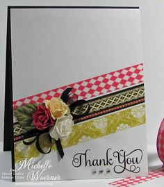 Stop and Stamp the roses: Super simple washi tape cards
