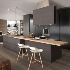 Beautiful Kitchen designed by Modulnova - - - #kitchen #design #deco #decor #wood #chairs #architecture #homedecor #home #homestyle #luxurystyle #luxury #lamps #floor #designer #arquitectura #architect #autocad #render #architecturelovers #moderndesign #i