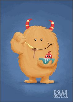 Cute digital paintings and illustrations  MOSTROFLAKES by ospina_oscar, via Flickr