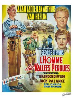 ALAN LADD - SHANE - L'HOMME DES VALLEES PERDUES - (GEORGES STEVENS 1951)