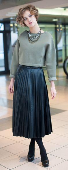 кожаная юбка миди - Поиск в Google