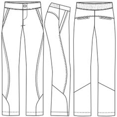 Patrones ropa tallas grandes... Pantalon deportivo 3035 DAMA Pantalones  Moldes De Pantalones 681f9e741386