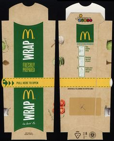 UK - Cardiff - McDonald's - wrap box package - November 2011 by JasonLiebig, via Flickr