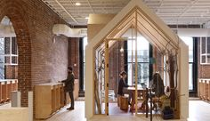 Airbnb's Portland Office Invites Employees To Belong Anywhere. Boora Architects together with Myriad Harbor have designed the offices of Airbnb in Portland, Oregon. Modern Office Design, Workplace Design, Office Interior Design, Office Interiors, Office Designs, Design Offices, Interior Work, Interior Sketch, Airbnb Portland