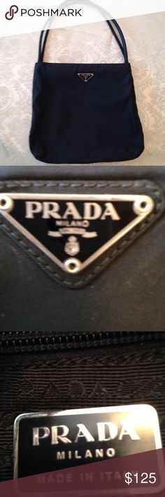 Authentic Prada classic canvas purse. Like new, only used a few times, immaculate condition. 9\' high, 11\' wide, strap has 10\' drop, classically beautiful. prada Bags Shoulder Bags