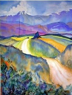 Road to Troublesome Creek - watercolor by ©Lou Jordan - http://loujordanfineart.blogspot.com/2013/06/road-to-troublesome-creek-original.html