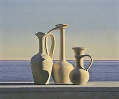 C r e a t i v e W o n d e r: Beautiful still life with seascapes . . . then lush lands . . . exquisite . . . David Ligare . Salinas . Califo...