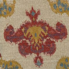 Chandelier Federal Woven Ikat Floral Upholstery Fabric - SW32758 - Fabric By The Yard At Discount Prices