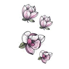 3329c48ab7c14 Wyuen New Hot Waterproof Temporary Tattoo Stickers for Adults Kids Body Art  Lotus P-070