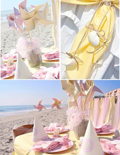 darling details for a Beach Baby party!