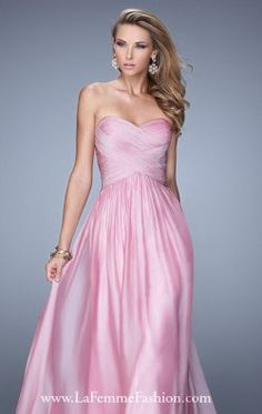 Ruched Chiffon Gown by La Femme 21257