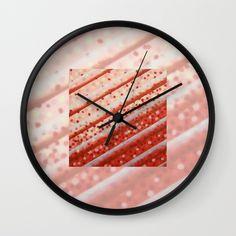 Diagonal Bars Wall Clock by artgaragefinland Wall Bar, Clocks, Art Gallery, Stylish, Red, Accessories, Home Decor, Homemade Home Decor, Art Museum
