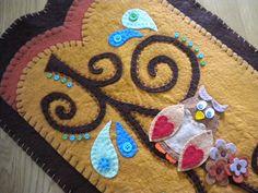 owl penny rug by Lisa'sPennies, via Flickr