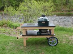 Large Big Green Egg with custom built cart, Marlow, NH